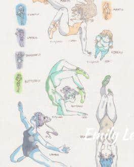 OC Alien Ballerinas Study Sheet